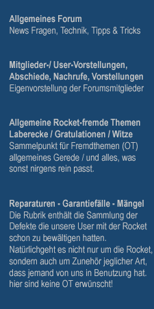 Das Rocket III Forum